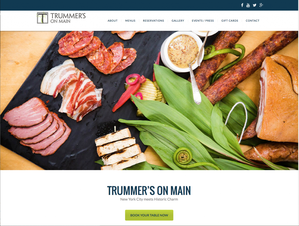 Our website design for Trummer's on Main garnered high marks for a Silver advertising agency award!
