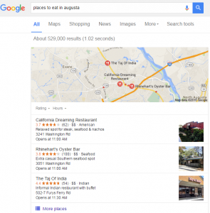 Google has emphasized local SEO and their map packs in serach results